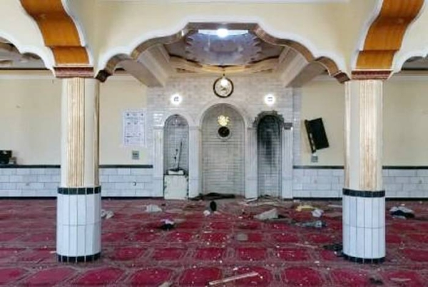 Twelve people were killed in an explosion at a mosque in a district of the Afghan capital Kabul during Friday prayers, officials said. — courtesy Tolo Twitter