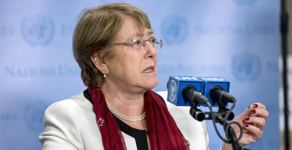File photo of Michelle Bachelet, United Nations High Commissioner for Human Rights. — courtesy UN Photo/Laura Jarriel