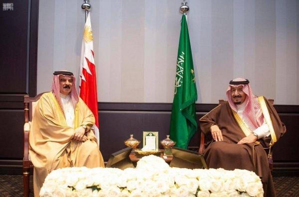 File photo of Custodian of the Two Holy Mosques King Salman and Bahrain's King Hamad Bin Isa Al-Khalifa.