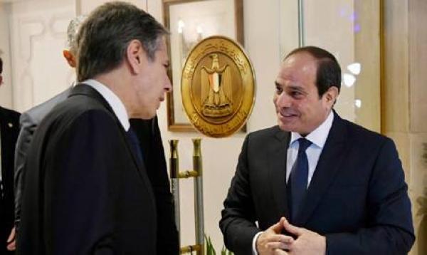 US Secretary of State Antony Blinken meets with Egyptian President Abdel Fattah El-Sisi in Cairo on Wednesday. — Courtesy photo