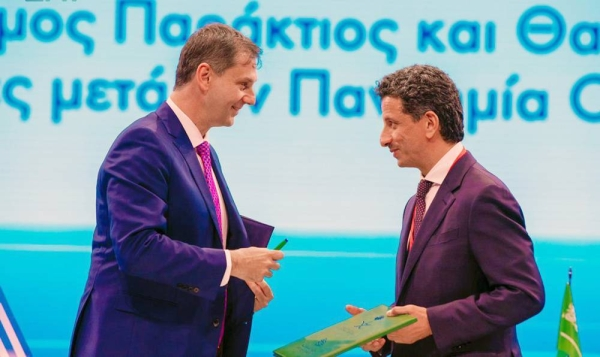 Minister of Tourism Ahmed Al-Khateeb and the Greek Minister of Tourism Harry Theoharis signed on Sunday an agreement for cooperation in the field of sustainable coastal and marine tourism, on the sideline of the coastal and marine tourism conference held in Athens.
