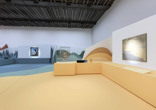 Emotions! The New Art Adventure exhibition rendering. — courtesy Department of Culture and Tourism – Abu Dhabi  Projex.