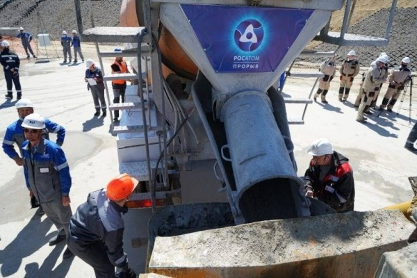 Construction of a new BREST-OD-300 fast neutron reactor has begun at a site in Siberia, part of a demonstration project by Rosatom, the Russian state-owned nuclear power company. — courtesy Rosatom