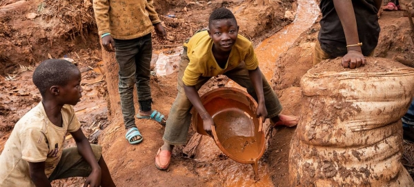 Children work at a mine in South Kivu in the Democratic Republic of the Congo in this courtesy file photo