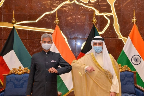 Kuwait's Foreign Minister Sheikh Ahmed Al-Nasser Al-Sabah, right, is seen with his Indian counterpart S. Jaishankar. — Courtesy photo