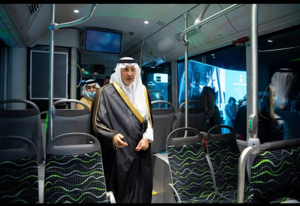 Prince Khalid inaugurates prototype of a new public transport system in Makkah