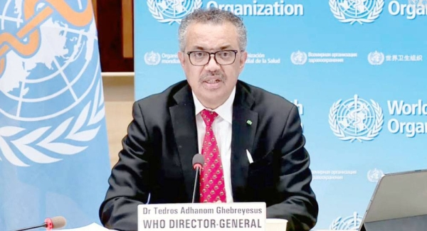 World Health Organization head Tedros Adhanom Ghebreyesus