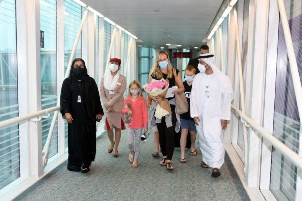 The United Arab Emirates has helped reunite an Australian family, who was trapped in Sri Lanka for over 30 days due to a lockdown aimed at controlling the COVID-19 pandemic, with the father who has been living in Dubai for the past 15 years. — WAM photos