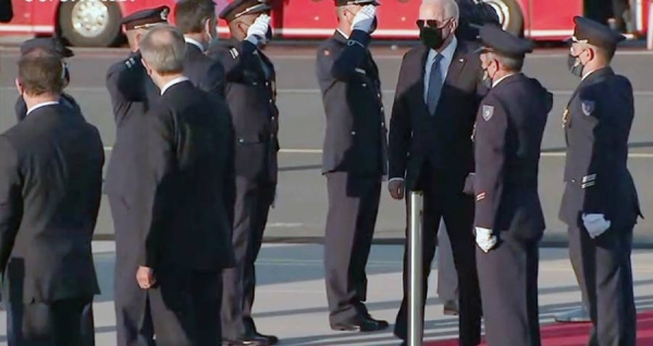 American President Joe Biden arrives in Brussels for talks with the EU on Tuesday.