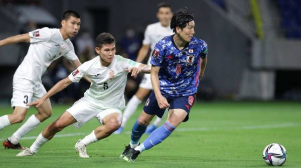 A first-half hat-trick from Ado Onaiwu helped Group F winners Japan advance to the final round of the Asian Qualifiers for the FIFA World Cup Qatar 2022 with a perfect record after a 5-1 win over Kygyrz Republic on Tuesday at Panasonic Stadium Suita. — Courtesy photo