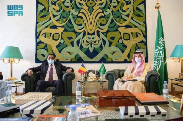 The message was received on behalf of Foreign Minister Prince Faisal Bin Farhan by Minister of State for African Affairs Ahmed Kattan during a meeting with his Chadian counterpart Mahamat Zene Cherif in Riyadh.