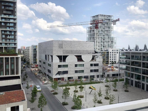 Images shared by the Antwerp Fire Brigade show that the top floor of the new building has partly come down. — courtesy Antwerp Fire Brigade