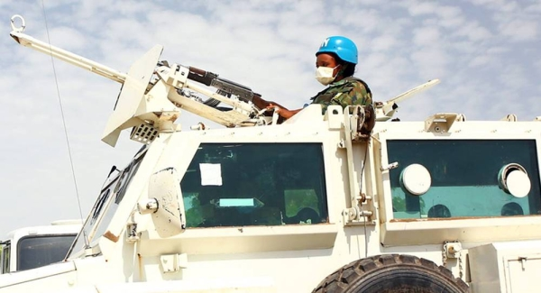 A woman UN peacekeeper attends a training exercise in Malakal, South Sudan. — courtesy UNMISSJanet Adongo