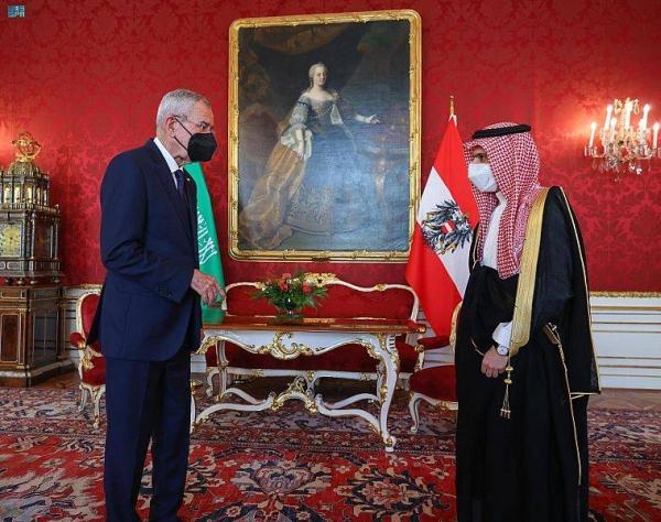 Saudi foreign minister, Austrian presidenthold talks, seek to strengthen bilateral ties