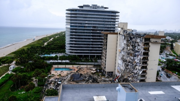 At least one person was confirmed dead in the collapse in the beachfront community of Surfside, a few miles north of Miami Beach, according to Miami-Dade County Mayor Daniella Levine Cava, and another 102 people were accounted for. — Courtesy photo