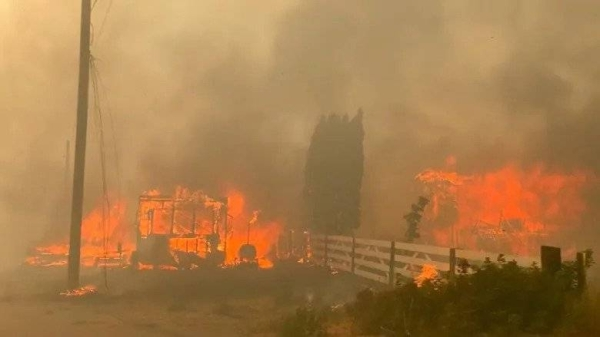 A day after a village in British Columbia saw Canada's highest recorded temperature, the residents of Lytton have been ordered to evacuate due to a wildfire. — Courtesy photo