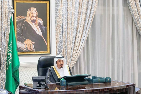 Custodian of the Two Holy Mosque King Salman chairs the weekly Cabinet meeting in NEOM on Tuesday.