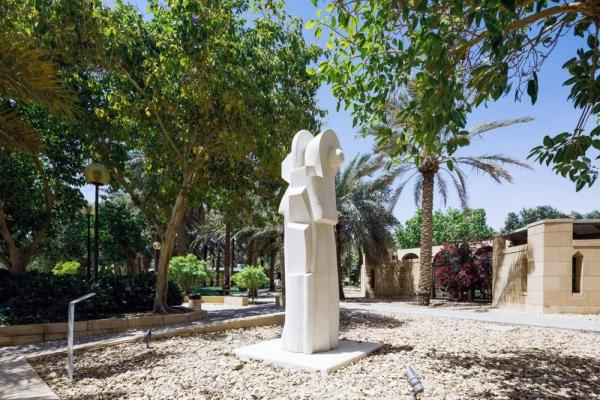 Dia Azzawi, Tuwaiq International Sculpture Symposium, 2019 at Riyadh's Diplomatic Quarter. Courtesy Riyadh Art