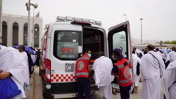 Ambulance teams stationed in Makkah city and holy sites responded to 1,269 medical and injury cases. Out of the total cases, 602 were transferred to hospitals, and 649 were attended to on the spot.