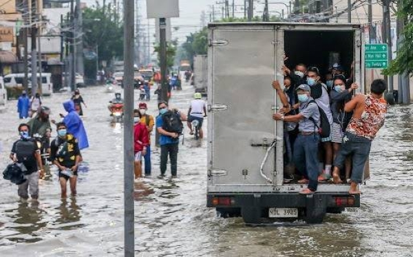 Authorities in the Philippines have evacuated more than 15,000 people in Metro Manila and some parts of the country as heavy monsoon rain, compounded by a tropical storm, flooded the city and nearby provinces. — Courtesy photo