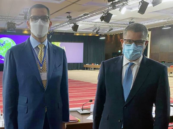 Dr. Sultan Al Jaber with Alok Sharma at July Ministerial COP26 meeting in London.