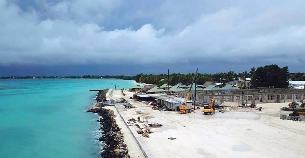 The low-lying archipelago, Tuvalu, in the Pacific Ocean is reclaiming land as it fights the effects of climate change. — courtesy UNDP Tuvalu