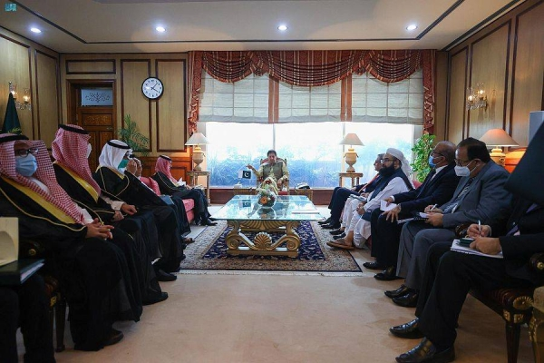 Pakistan's Prime Minister Imran Khan met here on Tuesday with Saudi Arabia's Foreign Minister Prince Faisal Bin Farhan, who is currently visiting Islamabad.