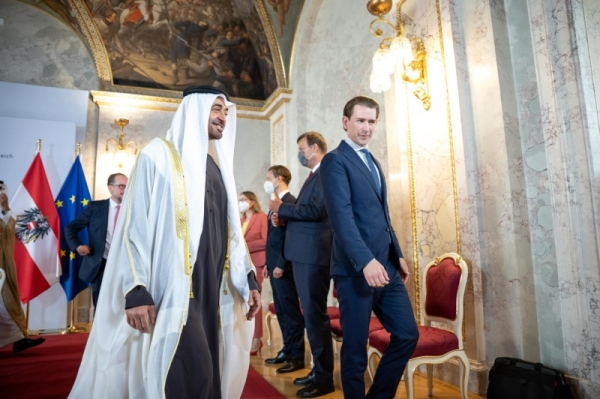 Abu Dhabi crown prince discusses bilateral ties with Austrian chancellor on Vienna visit