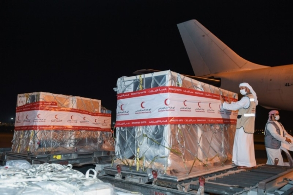 e United Arab Emirates, through the Emirates Red Crescent (ERC), has sent an aid plane carrying 80,000 COVID-19 vaccines to Mauritania to bolster the country's efforts in curbing the spread of the virus, the UAE's official news agency WAM reported on Thursday. — WAM photos