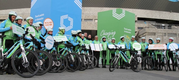 A team of cyclists on electric bikes ends a 600 km ride at the COP24 Climate Change conference. — File photos
