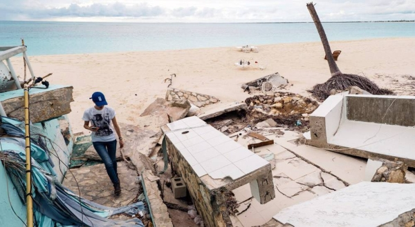 With most of its land only a few feet above sea level, Kiribati is seeing growing damage from storms and flooding. — courtesy NICEF/Vlad Sokhin
