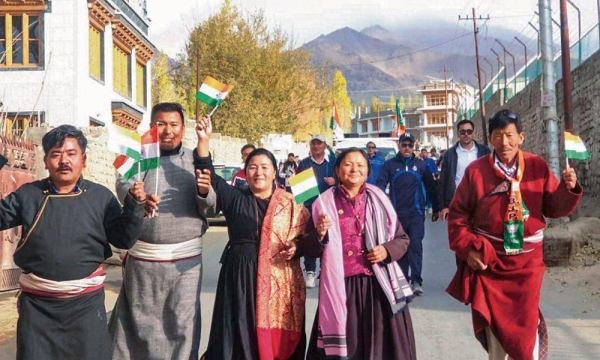 Ladakh, declared a Union Territory on Aug. 5 by the Indian government, is seeing increased development as New Delhi has implemented several development projects that aim to build a clean, green, healthy, and wealthy Union Territory of Ladakh.