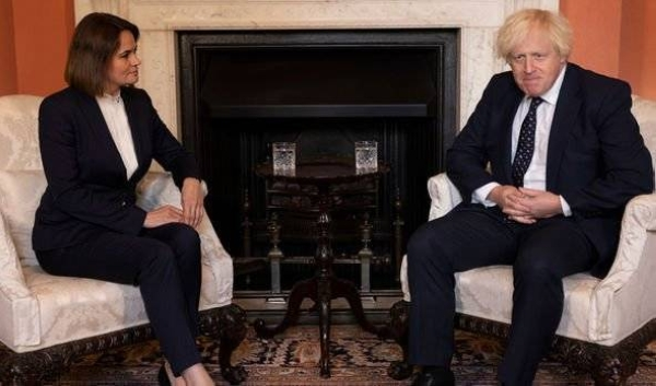 During the meeting with Tikhanovskaya, Johnson condemned the current Belarusian regime led by President Alexander Lukashenko for human rights violations and persecution of pro-democracy figures, including her and her husband, the UK government said in a press statement. — Courtesy photo
