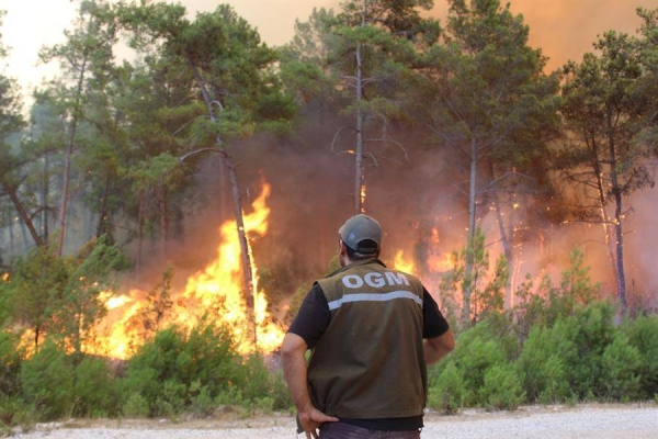 These were the dramatic scenes as locals in southern Turkey scrambled to fight a wildfire that had surrounded their village. — Courtesy file photo