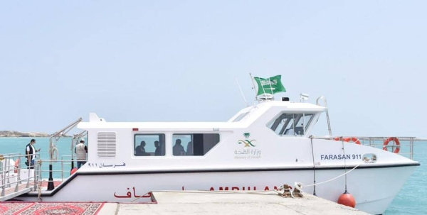 Jazan governor inaugurates sea ambulance service in Farasan Island