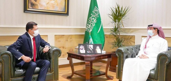 President of Human Rights Commission (HRC) Dr. Awwad Bin Saleh Al-Awwad received at his office on Wednesday the Ambassador of the United Mexican States to the Kingdom of Saudi Arabia, Aníbal Gómez Toledo.