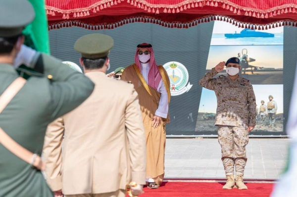 Saudi Arabia's Deputy Defense Minister Prince Khalid Bin Salman visited the General Staff Presidency and the headquarters of the Joint Forces Command on Thursday.