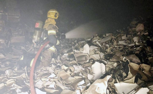 Firefighters from four units managed to put out a blaze, which erupted in Amgarah industrial area, Kuwait Fire Force (KFF) said Monday.