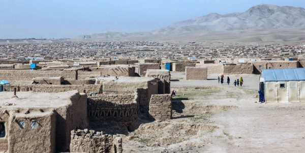 Upwards of 30,000 people live in this displacement site on the outskirts of Herat. — courtesy IOM