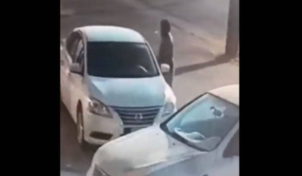 A clip from CCTV footage circulating on social media showed a man looking into the windows of a car parked on the side of a city road. When the man noticed the key was left in the ignition, he jumped into the driver's seat and sped off.