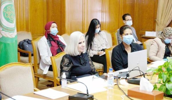 Assistant secretary general and social affairs chief Haifa Abu Ghazaleh during the virtual meeting.