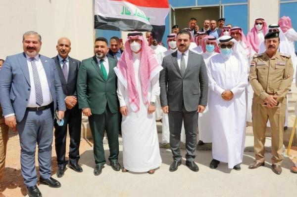Iraqi-Saudi meeting at Arar border crossing on Wednesday.