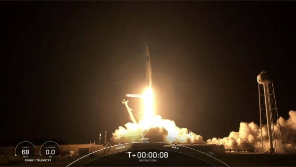 SpaceX launches first space tourism mission