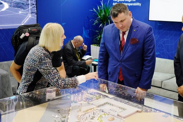 Saudi Arabia's World Defense Show has revealed its official venue model at DSEI in London, showcasing a model of the purpose-built venue that will host the inaugural event in March 2022.