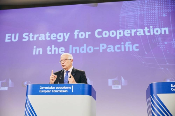 EU High Representative Josep Borrell presenting the Indo-Pacific Strategy