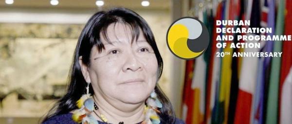 Joenia Wapixana, activist for the rights of indigenous people in Brazil. — courtesy UN News/Daniela Gross
