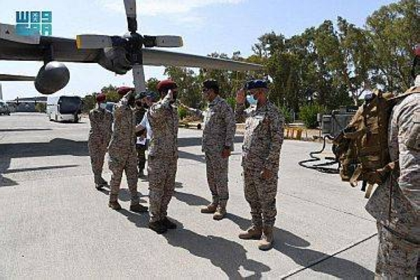 Paratroopers of the Royal Saudi Land Forces (RSLF) arrived in Greece on Monday to participate in a special operations exercise with Greek, UAE and Egyptian special forces. -- SPA