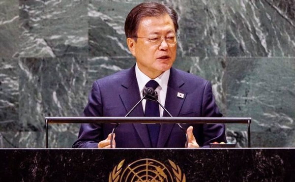 South Korean President Moon Jae-in's proposal to declare a formal end to the Korean War.