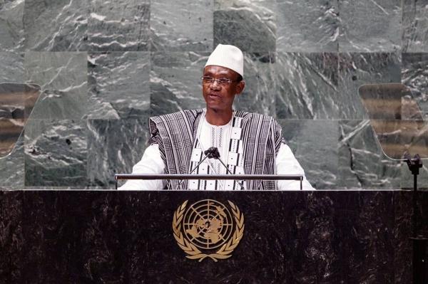 Prime Minister Choguel Kokalla Maïga of the Republic of Mali, addresses the general debate of the UN General Assembly's 76th session. — courtesy UN Photo/Loey Felipe