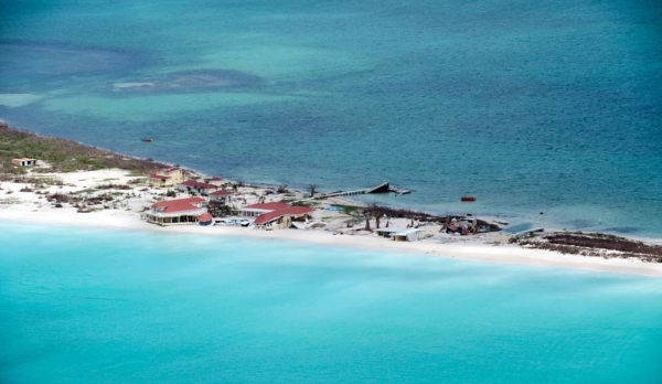 Aerial view of damage caused by Hurricane Irma in Antigua and Barbuda (2017). — courtesy UN Photo/Rick Bajornas